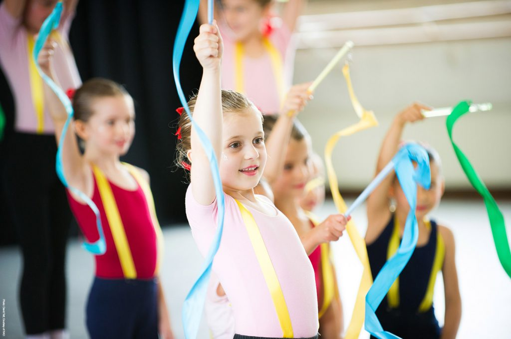 Pre-School Dance class with ribbons